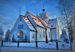 swedish church in Pitea by Michael Cavén on flickr