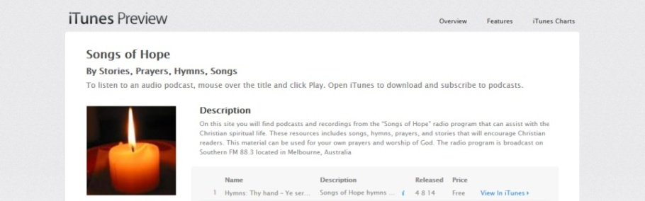 Songs of Hope now oniTunes