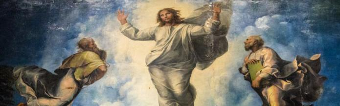 Jesus Transfiguration by Raphael by Drew Maust on Flickr 960x300 75pc