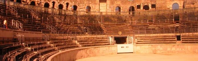 roman arena, Nimes, France by Karoly Lorentey on flickr 960x300